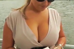 My Homemade Huge Tits Blonde Amateur Takes Money From A Stranger Then