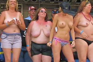 My Homemade Real Woman Going Wild At Midwest Biker Rally
