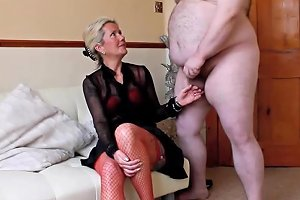 My Homemade Real Amateur CFNM Made To Strip An Wank For Hot MILF Ammy