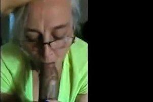 My Homemade 70 Year Old Grandmother Makes Deep Throats